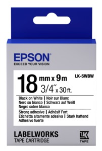 Epson LK-5WBW Label Tape 18mm