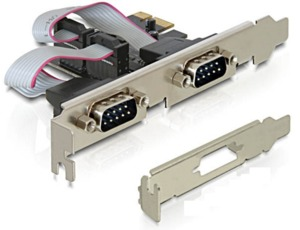 Interfaccia PCIe x1 2 seriali Delock