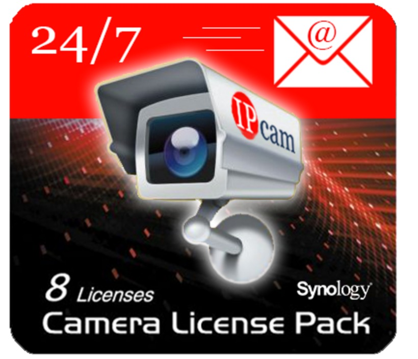 Buy Synology NAS Camera Licence 8-pack (DEVICE LICENSE (X 8))