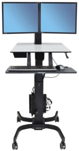 WorkFit-C Sit-Stand Workstation Dual