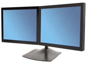 Ergotron DS100 standvoet 2 monitors hor.