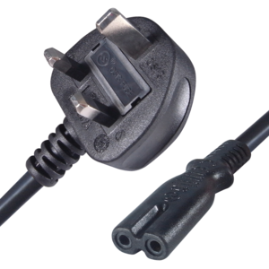 Power Cable UK Plug to C7 2m Black