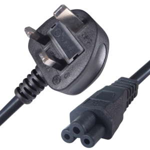 Power Cable UK Plug to C5/f 2.0 m Black