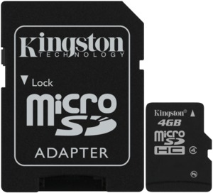 Kingston Class 4 microSDHC kártya 16 GB