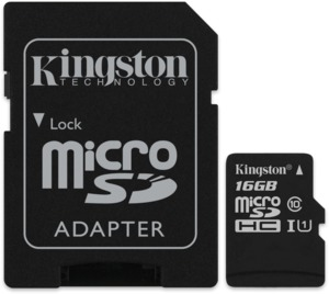 Kingston UHS-I U1 16 GB microSDHC