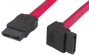 SATA Cable 1x Angled Internal 0.5m Red