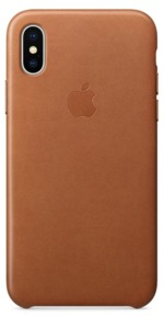 Apple iPhone X Leather Case Brown
