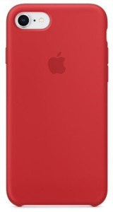 Apple iPhone 7/8 Silicone Case (RED)