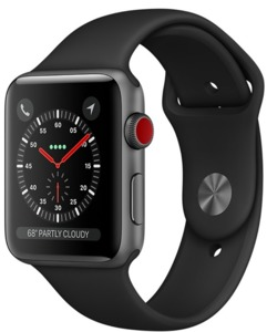 Apple Watch S3 Alu 38 mm Cellular Grau