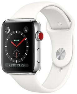 Apple Watch S3 Edelst. 38 mm Cell Silber