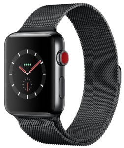 Apple Watch S3 Edelst. 38mm Cell Schwarz