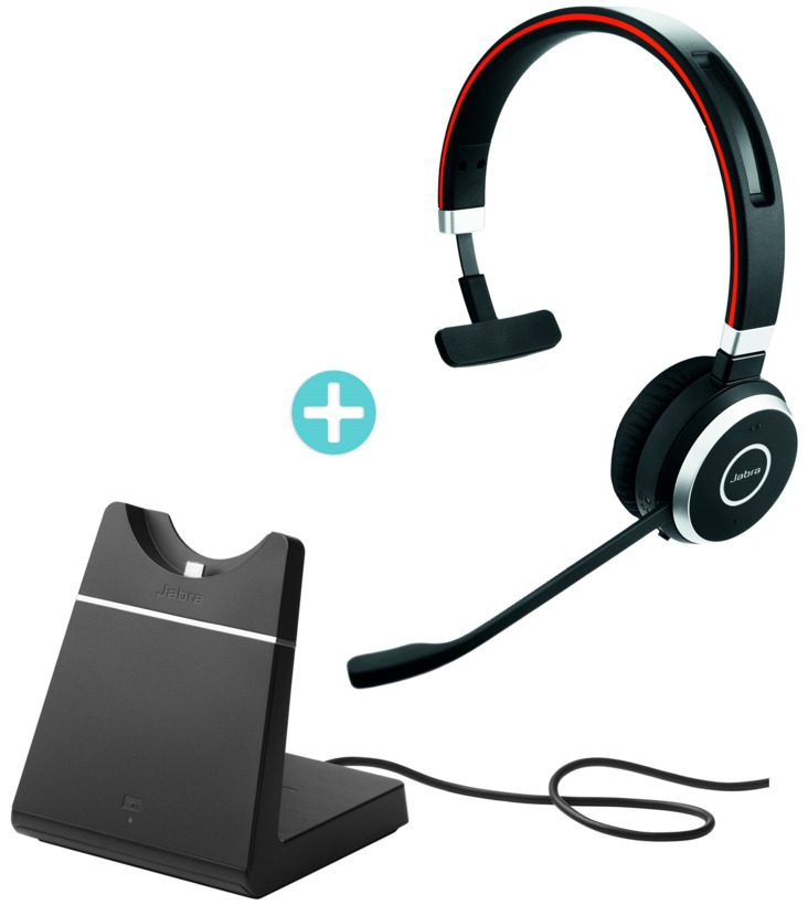 Buy Jabra Evolve 65 Ms Mono Headset Base 6593 823 399