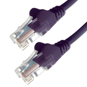 Patch Cable RJ45 UTP Cat6 0.5m Purple