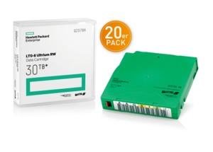 HPE LTO 8 Ultrium Tape + Label 20pc