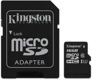 MicroSDHC 16 Go Kingston Canvas Select