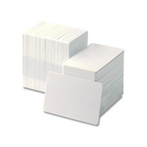 Zebra PVC Cards, White, 30 mil