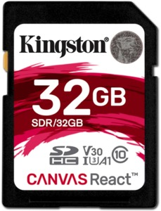 Kingston Canvas React 32 GB SDHC