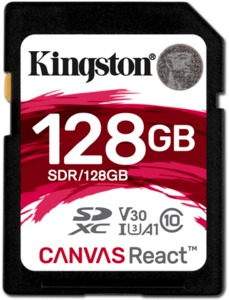 Kingston Canvas React 128 GB SDXC
