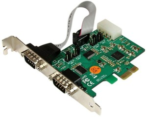 Interface StarTech 2 x RS232 - PCIe
