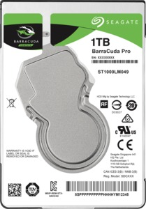 Seagate BarraCuda Pro 1TB Mobile HDD