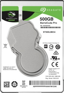 Seagate BarraCuda Pro 500GB Mobile HDD