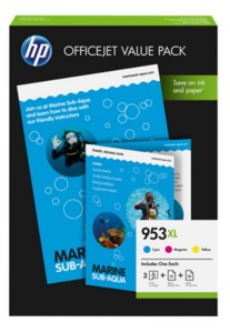HP 953XL Ink Multipack + Paper