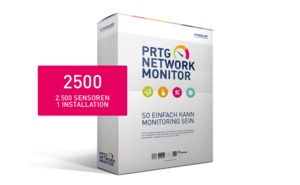 Paessler PRTG Network Monitor 2500 Version Lizenz inkl. Maintenance 36 Monate 2500 Sensoren