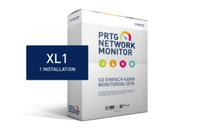 Paessler PRTG Network Monitor Upgrade inkl. Maintenance 12 Monate von 5000 Sensoren auf XL 1