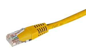 Patch Cable RJ45 U/UTP Cat6 10m Yellow