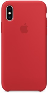 Apple iPhone XS Silicone Case RED