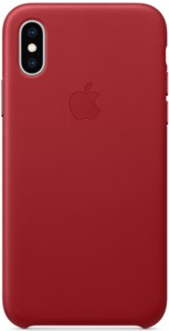 Apple iPhone XS Max Leather Case RED