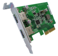 QNAP 2x USB-A 3.1 PCIe interfész