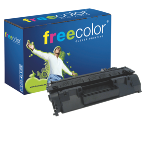 freecolor CE505A Rebuilt Toner Black