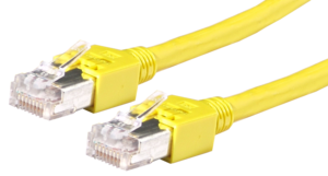 Patch Cable RJ45 SF/UTP Cat5e 0.5m Yell.