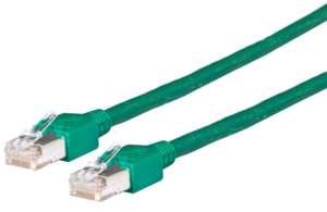 Patch Cable RJ45 SF/UTP Cat5e 1.5m Green