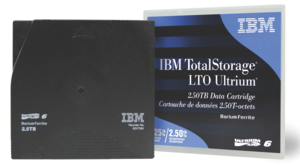 IBM LTO 6 Ultrium Tape + Label